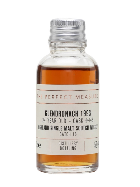 Glendronach 1993 Sample / 24 Year Old / Sherry Butt Highland Whisky