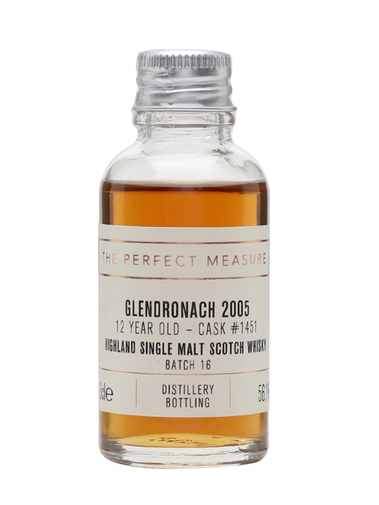 Glendronach 2005 Sample / 12 Year Old / Px Sherry Puncheon Highland Whisky