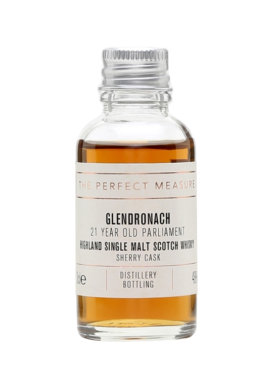 Glendronach 21 Year Old Parliament Sample / Sherry Cask Highland Whisky