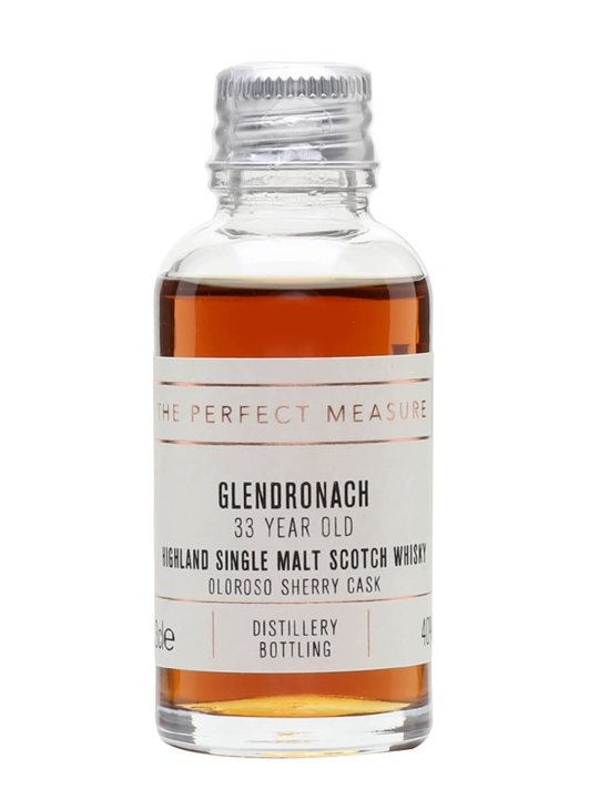 Glendronach 33 Year Old Sample / Sherry Cask Highland Whisky