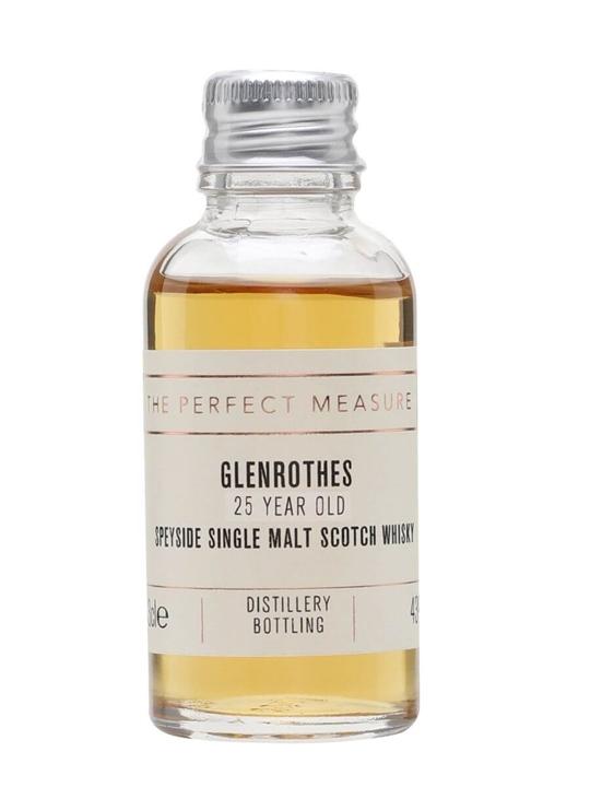 Glenrothes 25 Year Old Sample Speyside Single Malt Scotch Whisky