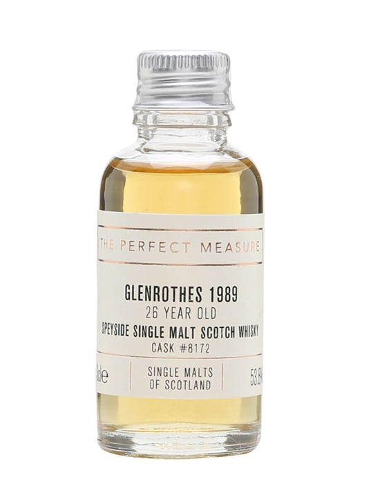 Glenrothes 1989 / 26 Year Old / Single Malts Of Scotland Sample Speyside Whisky