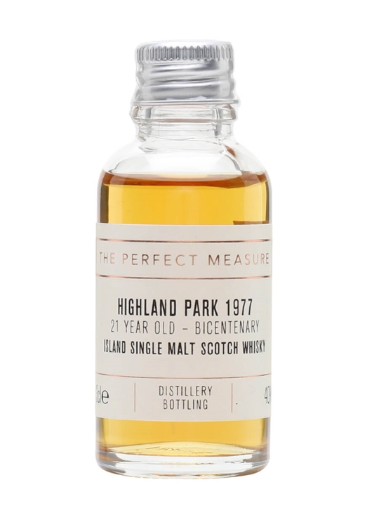 Highland Park 1977 Sample / 21 Year Old / Bicentenary Island Whisky