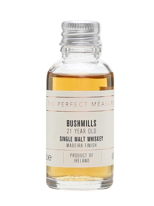 Bushmills 21 Year Old Madeira Finish Sample Irish Single Malt Whiskey