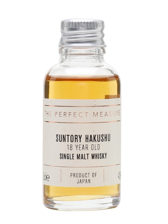 Suntory Hakushu 18 Year Old Sample Japanese Single Malt Whisky