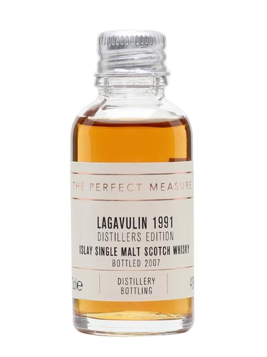 Lagavulin 1991 Distillers Edition Sample / Bot.2007 Islay Whisky