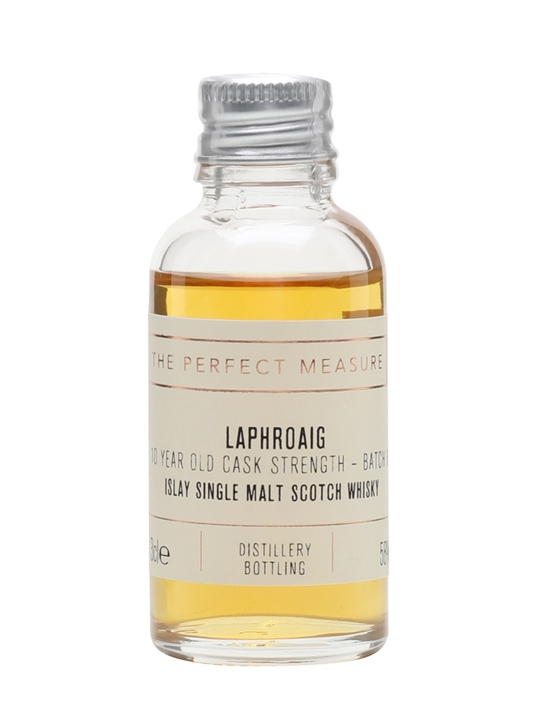 Laphroaig 10 Year Old Cask Strength Sample / Batch 006 / 2014 Release Islay Whisky