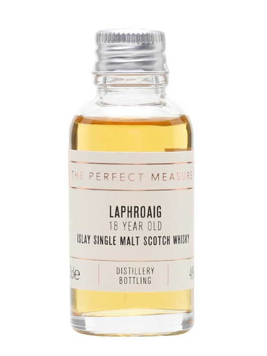 Laphroaig 18 Year Old Sample Islay Single Malt Scotch Whisky