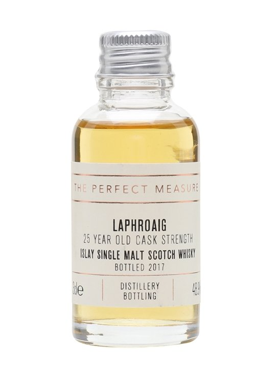 Laphroaig 25 Year Old Sample / Cask Strength / Bot.2017 Islay Whisky