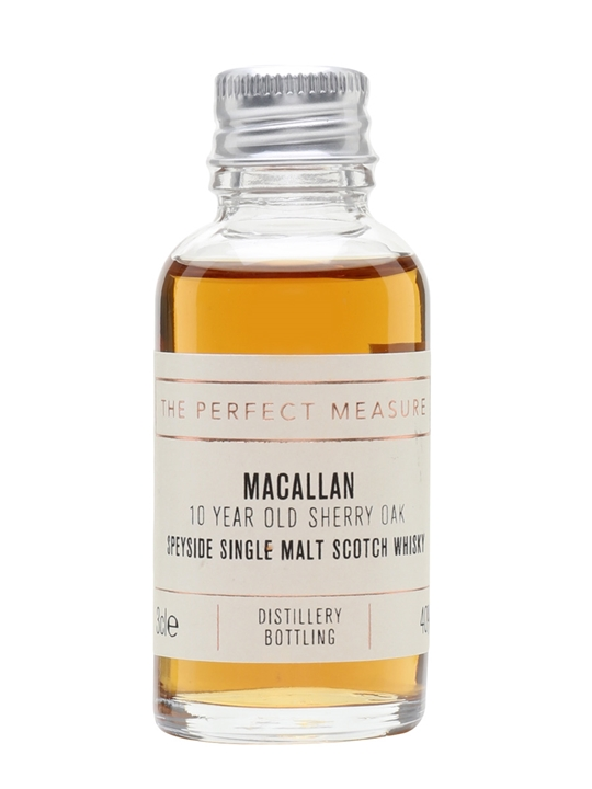 Macallan 10 Year Old Sample / Sherry Oak Speyside Whisky