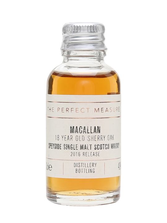 Macallan 18 Year Old Sample / Sherry Oak / 2016 Release Speyside Whisky