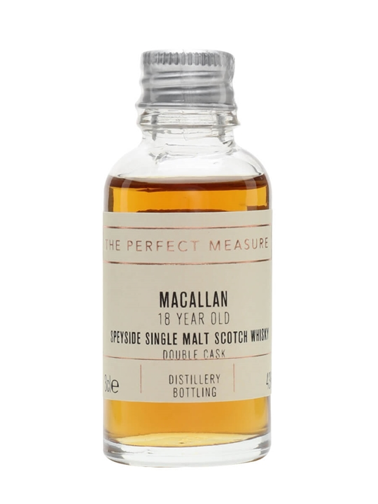 Macallan 18 Year Old Double Cask Sample Speyside Whisky