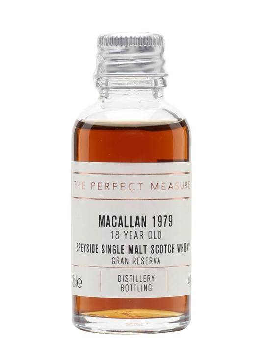 Macallan 1979 Sample / 18 Year Old / Gran Reserva Speyside Whisky