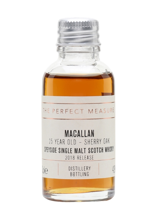 Macallan 25 Year Old Sample / Sherry Oak / 2018 Release Speyside Whisky