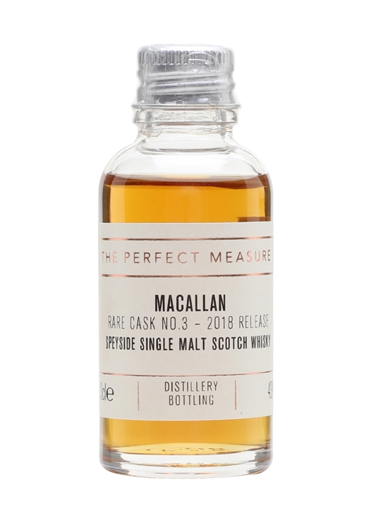 Macallan Rare Cask Batch No.3 Sample / 2018 Release Speyside Whisky