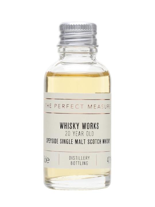 20 Year Old Speyside Cognac Finish Sample / Whisky Works Single Whisky