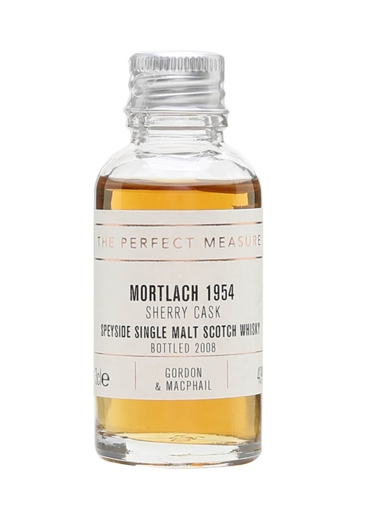 Mortlach 1954 Sample / Bot.2008 / Sherry Cask / Gordon & Macphail Speyside Whisky