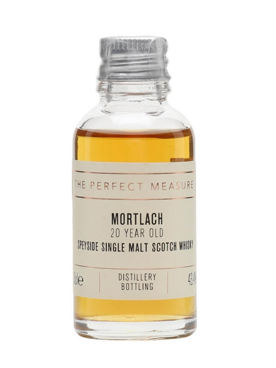 Mortlach 20 Year Old Sample Speyside Single Malt Scotch Whisky