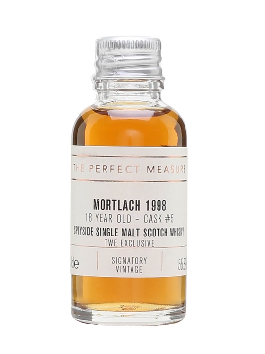 Mortlach 1998 Sample / 18 Year Old / Signatory For Twe Speyside Whisky