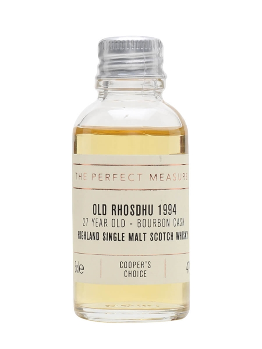Old Rhosdhu 1994 Sample / 27 Year Old / Coopers Choice Highland Whisky