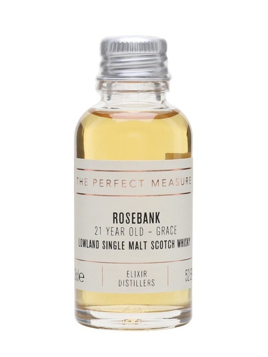 Rosebank 21 Year Old Sample / Grace Lowland Single Malt Scotch Whisky