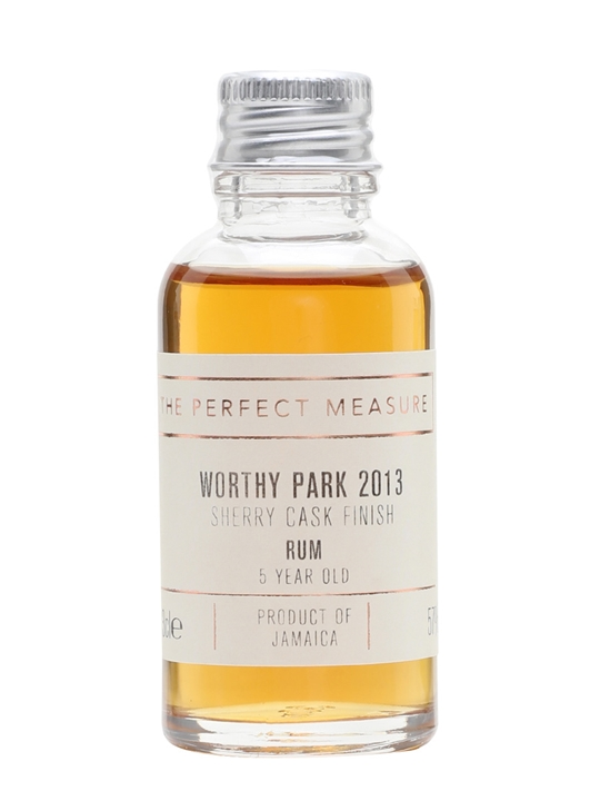 Worthy Park 2013 Sample /5 Year Old / Sherry Cask Finish Rum