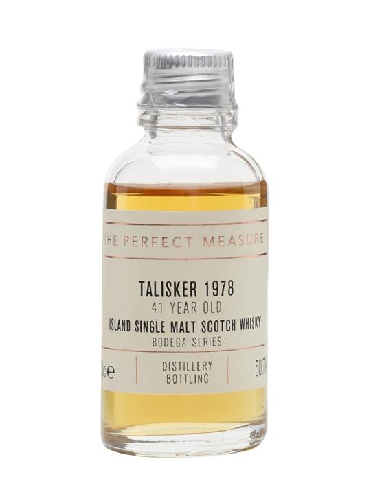 Talisker 1978 Sample / 41 Year Old / Bodega Series Island Whisky