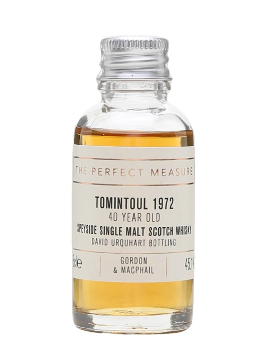 Tomintoul 1972 Private Collection Sample / David Urquhart Bottling Speyside Whisky