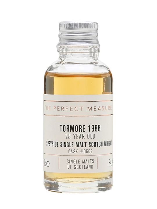 Tormore 1988 Sample / 28 Year Old / Single Malts Of Scotland Speyside Whisky