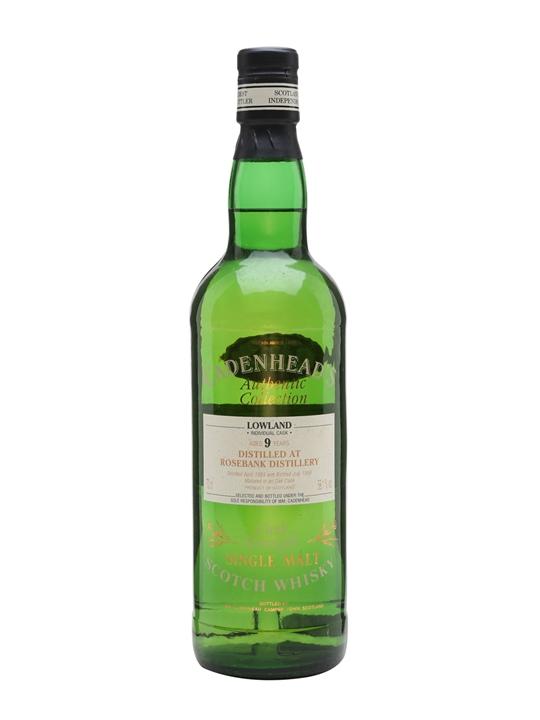 Rosebank 1989 / 9 Year Old / Cadenhead's Lowland Whisky