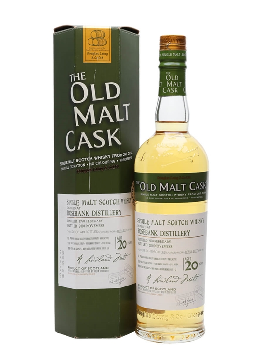 Rosebank 1990 / 20 Year Old / Old Malt Cask #6815 Lowland Whisky