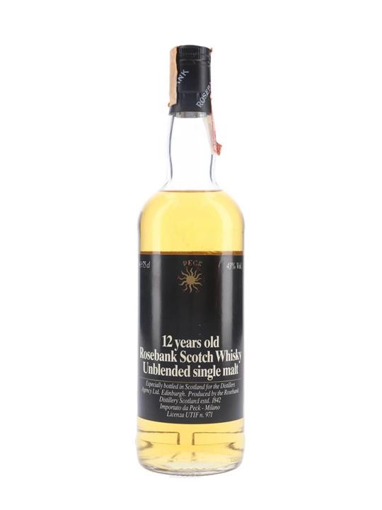 Rosebank 12 Year Old / Bot.1980s / Peck Lowland Whisky