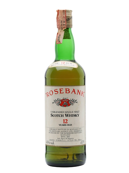 Rosebank 12 Year Old / Bot.1980s Lowland Single Malt Scotch Whisky