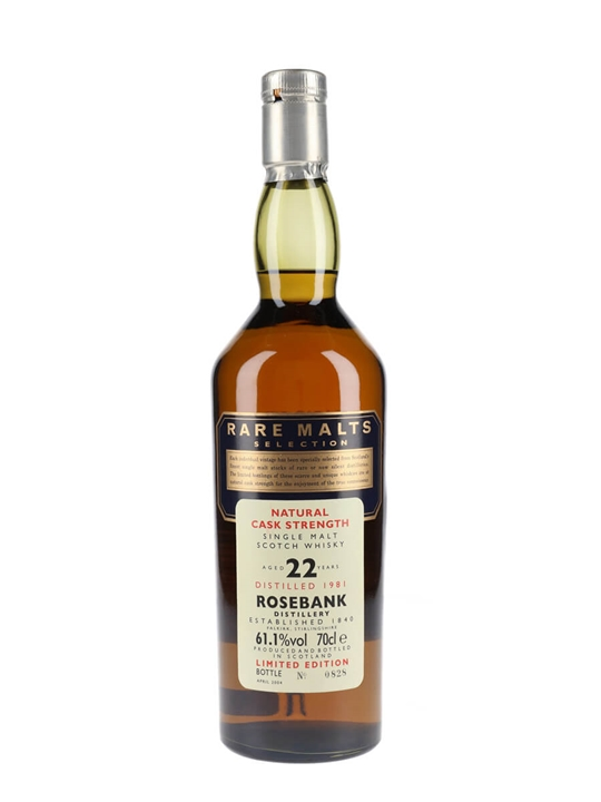 Rosebank 1981 / 22 Year Old / Rare Malts Lowland Whisky