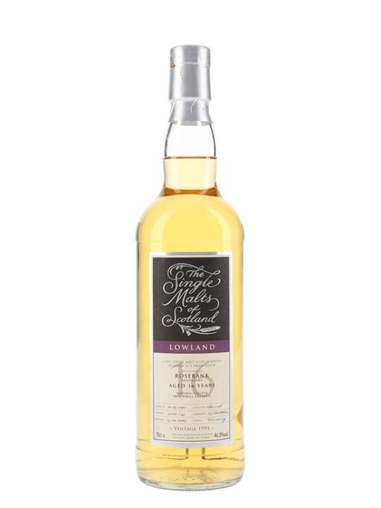 Rosebank 1991 / 16 Year Old / The Single Malts Of Scotland Lowland Whisky