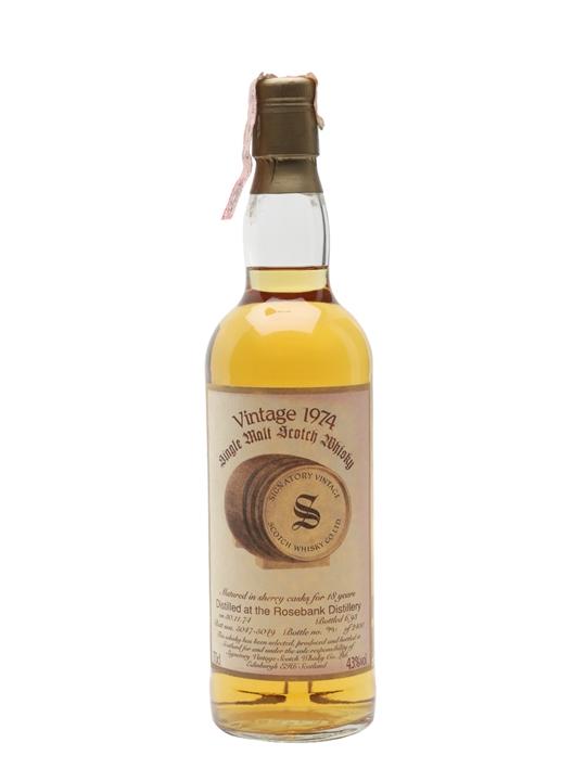 Rosebank 1974 / 18 Year Old / Signatory Lowland Whisky