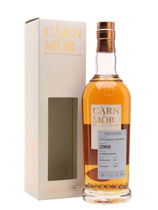 Royal Brackla 2008 / Carn Mor Strictly Limited Highland Whisky