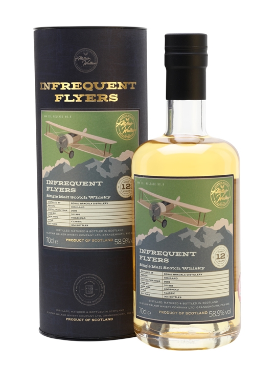 Royal Brackla 2006 / 12 Year Old / Infrequent Flyers Highland Whisky
