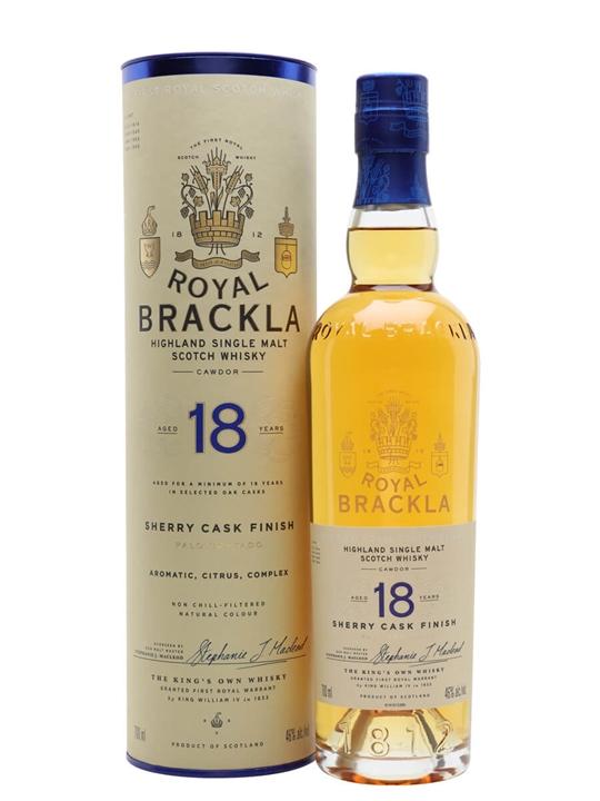 Royal Brackla 18 Year Old / Palo Cortado Finish Highland Whisky