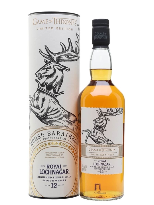Royal Lochnagar 12 Year Old / Game Of Thrones House Baratheon Highland Whisky