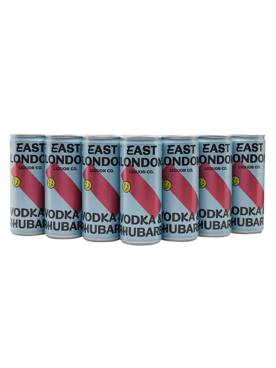 East London Liquor Vodka and Rhubarb / Case of 12 Cans