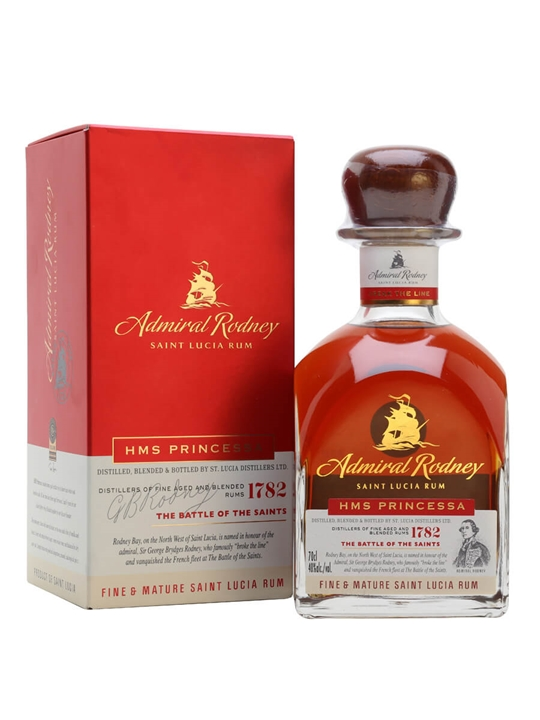 Admiral Rodney HMS Princessa Rum Single Traditional Column Rum