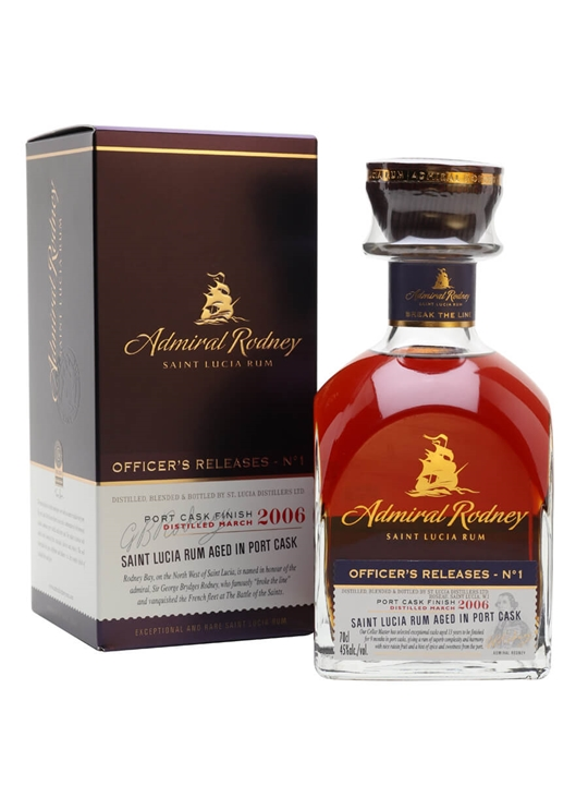 Admiral Rodney Officer's Release No.1 Single Traditional Column Rum