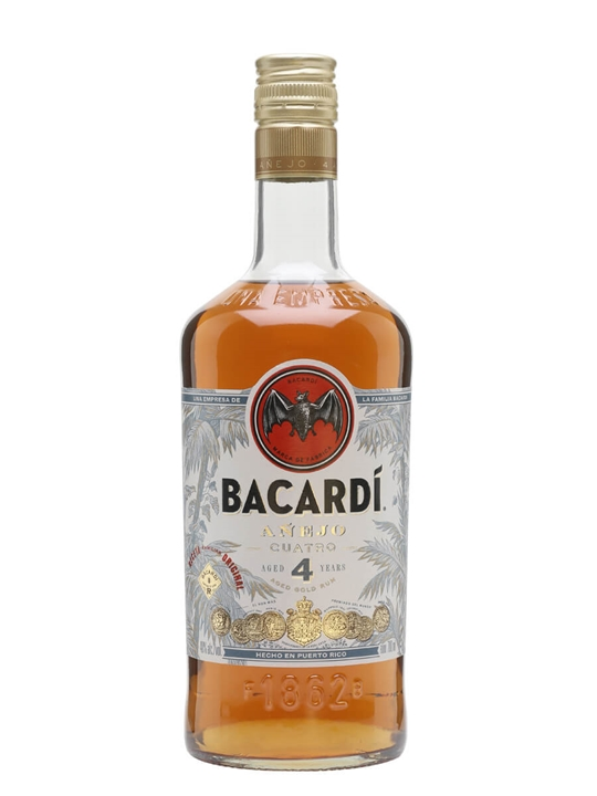 Bacardi Anejo Cuatro / 4 Year Old Single Modernist Rum