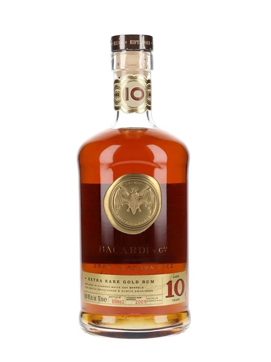 Bacardi Diez / 10 Year Old Rum Single Modernist Rum