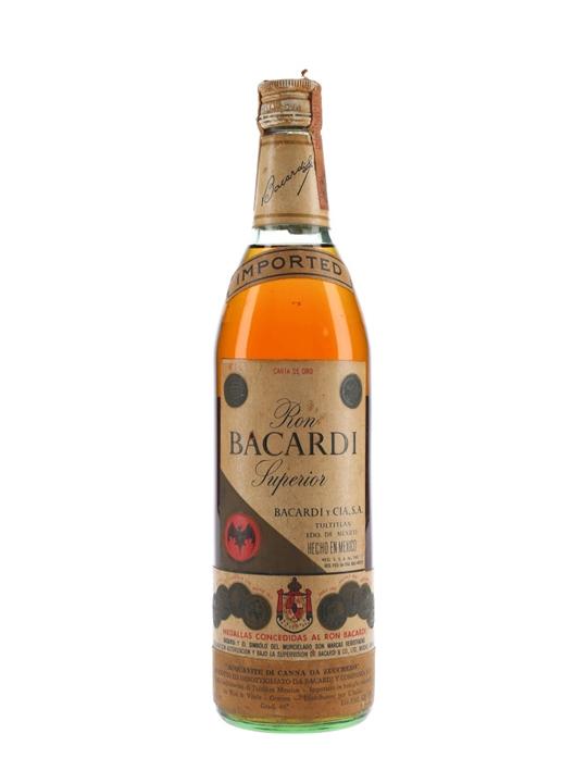 Bacardi Superior Rum / Carta de Oro (Mexico) / Bot.1960s