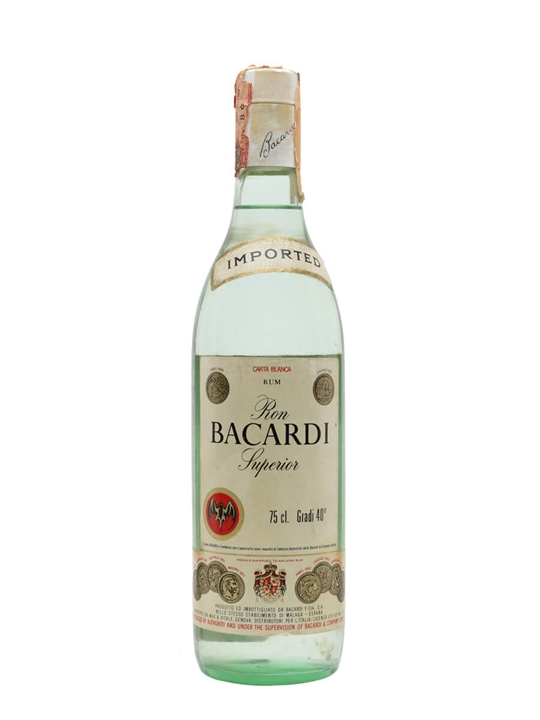 Bacardi Superior Rum (Spain) / Bot.1970s Single Modernist Rum