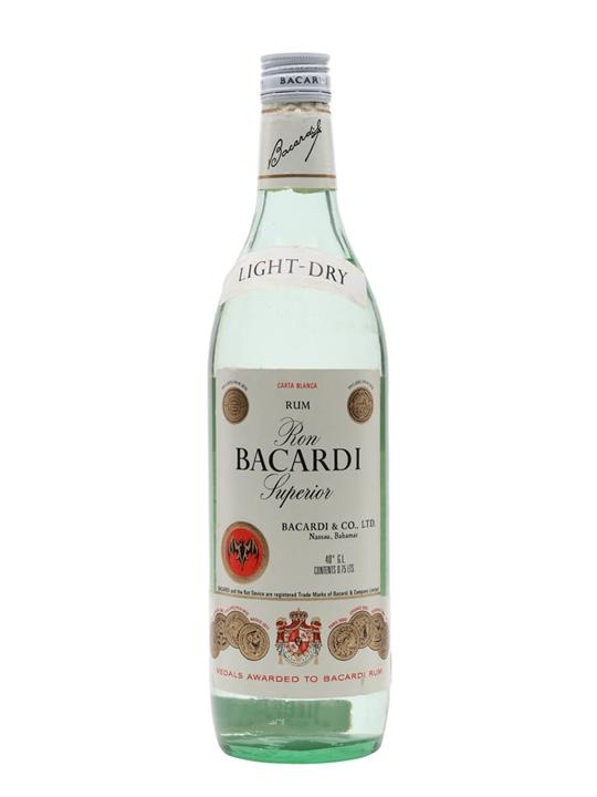 Bacardi Superior Rum (Bahamas)  Bot.1970s