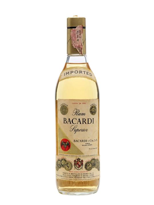 Bacardi Superior Rum  Carta De Oro (Spain)  Bot.1970s