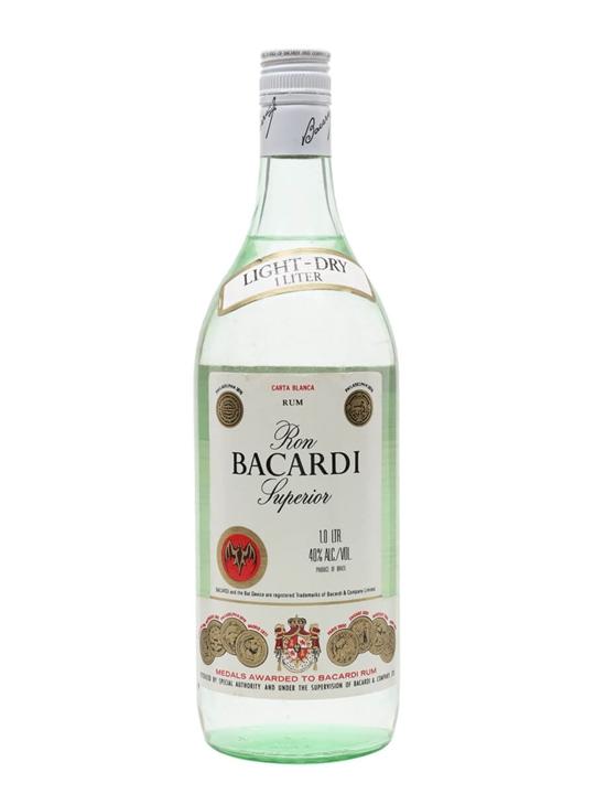 Bacardi Superior Rum / Brazil / Bot.1980s